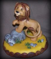 lion cake topper by melinaminotti