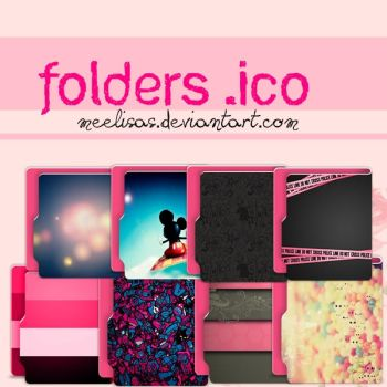 FOLDERS .ico - Pack de Carpetas .ico by MeelisaS