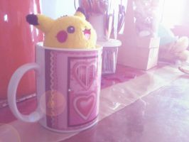Pikachu in a Mug by errisirre