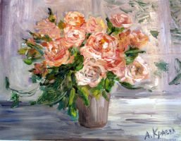 Still life with roses by Alekra81