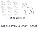 Pay to Use - Single Pony and Adopt Sheet Linearts by Exotic-Supernova