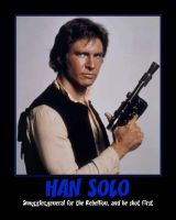 Han Solo Motivational  Poster by DevintheCool