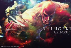 Shingeki no kyojin - The Titan Colossal by To-TheStars