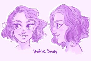 Profile Study by CrystalCatArt