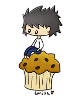L on a muffin~ by Magikarpette