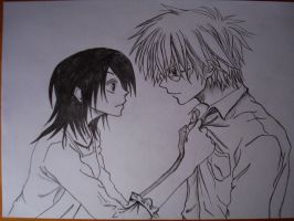 Misaki helps Usui with shirt by McFearless1810