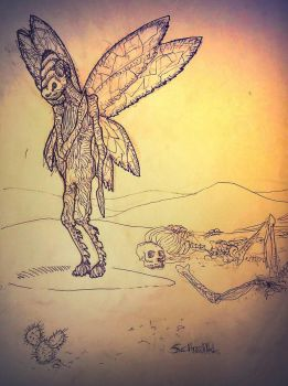 loneliness of the locust girl by niC0ras
