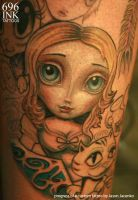 progress pic alice in wonderland tattoo by JasonJacenko