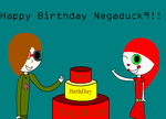Happy Bithday Negaduck9 by FireCyclop