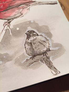 Tonight birds studying dynamic sketching Part3 by Pykodelbi