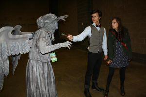 11th Doctor, Clara, and the Weeping Angels Cosplay by MisterTimeLord