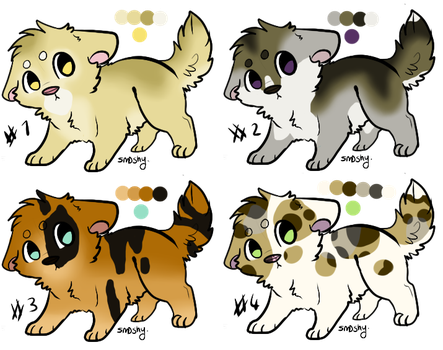 OPEN Realistic Dog Adopts 2 by StarphishyAdopts