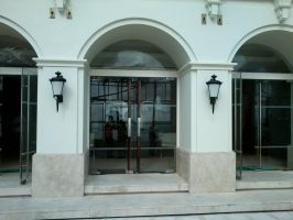 Front of a hotel or shop by HorsesPlease