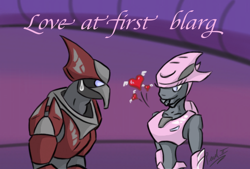 Love at First Blarg by fakefrogs