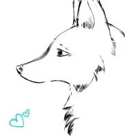 Young she-wolf by AbsoluteTook
