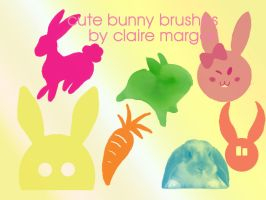 bunny brush set by Unicorn92