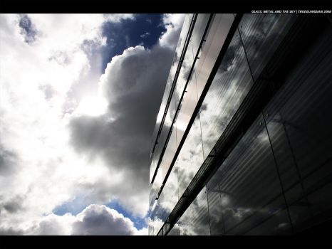 Glass, Metal and the Sky by TrueGuardian