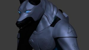 Armored Werewolf in Zbrush *wip* closeup by Vargulfen