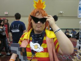 A-Kon 24: Cool Shades Torchic by Inept-Evil-Genius