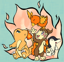 Fire starters- collab W Lunaki by Bubby-Bobble