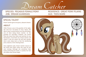 MLP OC Bio Sheet : Dreamcatcher by outlaw4rc