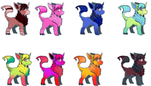 Pallete Adopts DONE! 1-7 and custom by Valizan-Adopts