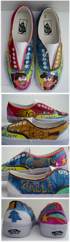 Gravity Falls Shoe by SharpieSam