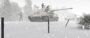 Tigers in the Snow by Jasuez