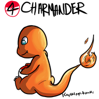 004 Charmander by Kaylethpop