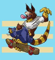 Shreddin Tree Kangaroo by dingoyellowdog
