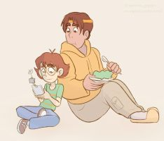 Pidge and hunk by Miss-Ponytails