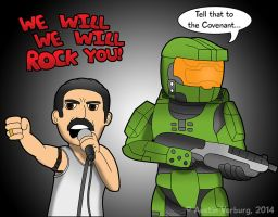 Halo: WE WILL ROCK YOU! by DairyBoyComics