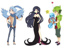 Adventure Time and pokemon by RoMiNeItOr