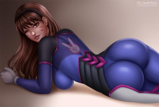 D.Va  Overwatch by Flowerxl