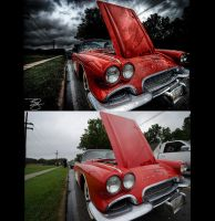 HDR 1961 Corvette: Before/After by braxtonds