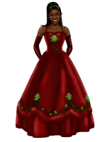 Tiana Christmas Gown by FalseDisposition