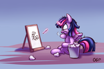 Twilight's art practice (ED ATG 2015 Day 11) by OneGutsyPony