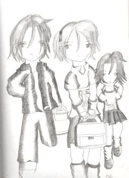 Toro, Tori, and Rin by Kaith-Sith