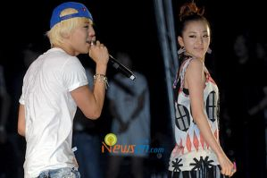 G Dragon and Dara Hello by DarkSoulKagome90