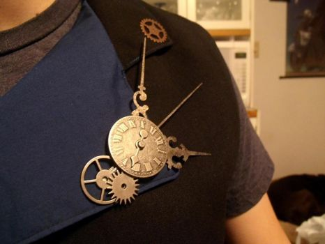 Steampunk Brooch by LadyMaxwell