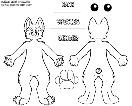 FREE CANINE LINEART - READ DESCRIPTION by Knuckle-Up