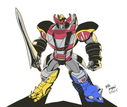 Mighty Morphin Megazord!!!! by mikethewolf