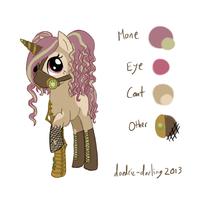(CLOSED) Steampunk Pony Adoptable - Auction! by daedric-darling