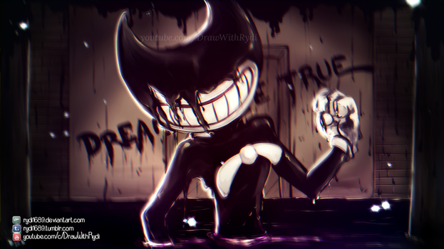 ENTER THE INK DEMON | Bendy and the Ink Machine by rydi1689