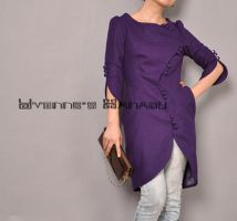 Purple Wool S Tulip Coat 10 by yystudio
