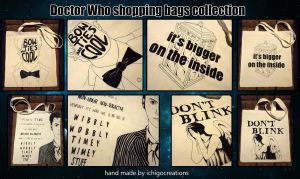 Doctor Who shopping bags collection by ichigocreations