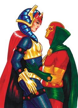 Big Barda and Mister Miracle by erinillustrates