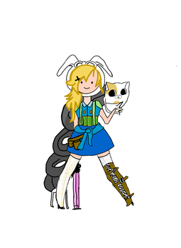 Steampunk Time with Fionna and C4-K3 by Sarcasm-for-morons