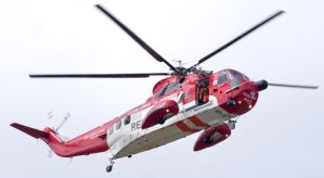 Coastguard rescue helicopter by Rustyoldtown