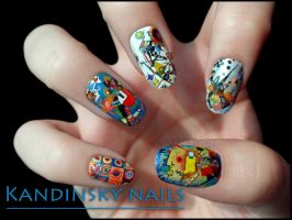 Kandinsky Nails by Ninails